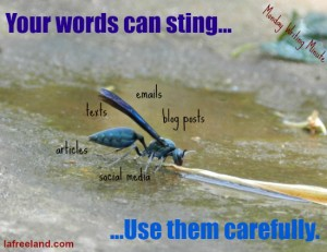 words can sting
